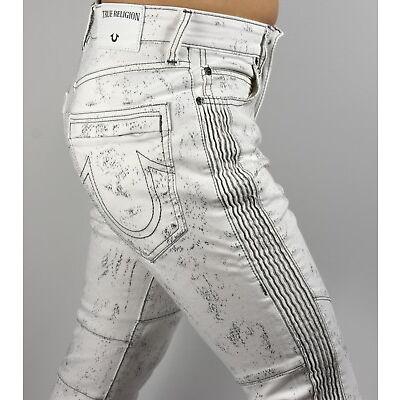 True Religion $299 Men's Racer Moto Skinny Brand Jeans - MDAAG821G