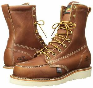 0661fbfe45a Details about Thorogood American Heritage USA Made Boots 814-4201 Wedge  Sole 8in Tall Moc Toe