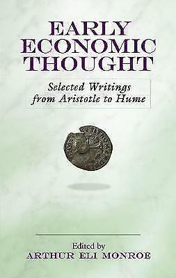 Early Economic Thought: Selected Writings from Aristotle to Hume, New Books
