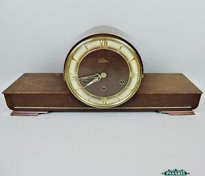 Art deco wooden mantel clocks