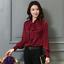 Womens-Satin-Silk-Button-Down-Blouse-Top-Bow-Tie-Neck-Shirt-Long-Sleeve-Zhou8 thumbnail 11