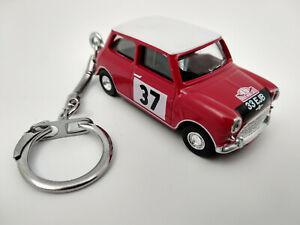 Porte-cle-Mini-Cooper-rallye-Monte-Carlo-neuf-en-metal-idee-cadeau-sympa