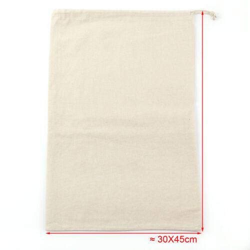 5 x Baumwolle Kordelzugbeutel Aufbewahrungstasche Laundry Stoffbeutel Tasche