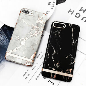 Luxury-Gold-Marble-Back-Cover-Hard-Plastic-Phone-Case-For-iPhone-6-6s-7-8-Plus-X