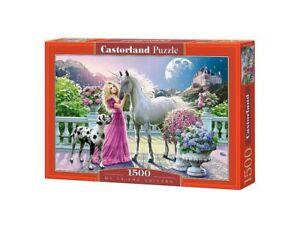 "Castorland Puzzle 1500 Pieces - My Friend Unicorn 27""x18.5"" Sealed box C-151301"
