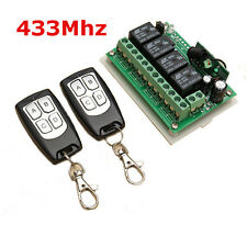 Geekcreit® 12V 4CH Channel 433Mhz Wireless Remote Control Switch + 2 Transmitter