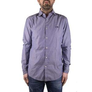 Armani-Jeans-Camicia-Uomo-Col-Blu-tg-L-45-OCCASIONE