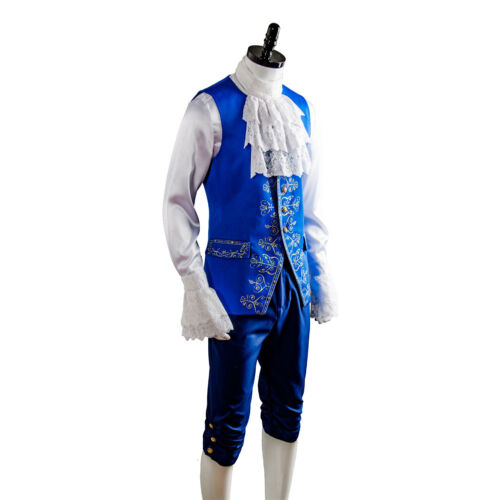 2017 Beauty and the Beast Dan Stevens Prince Outfit Suit Uniform Cosplay Costume
