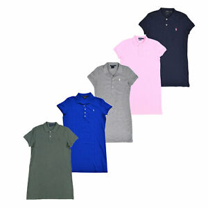 Ralph-Lauren-Womens-Polo-Dress-Mesh-Collared-Short-Sleeve-Pony-Logo-Outfit-New