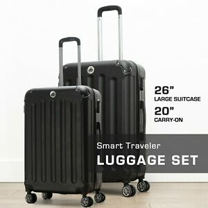 Destination Bags Hardside Spinner Roller Luggage Suit Case Set (QTY 2 Included)