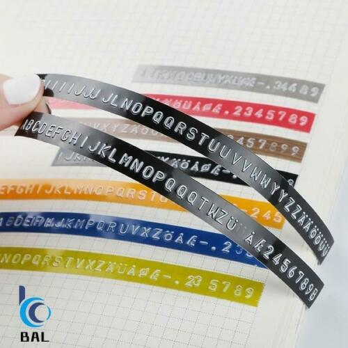3D Embossed Label Tape Manual PVC Refill Maker DYMO MOTEX Multi Colors UK Stock
