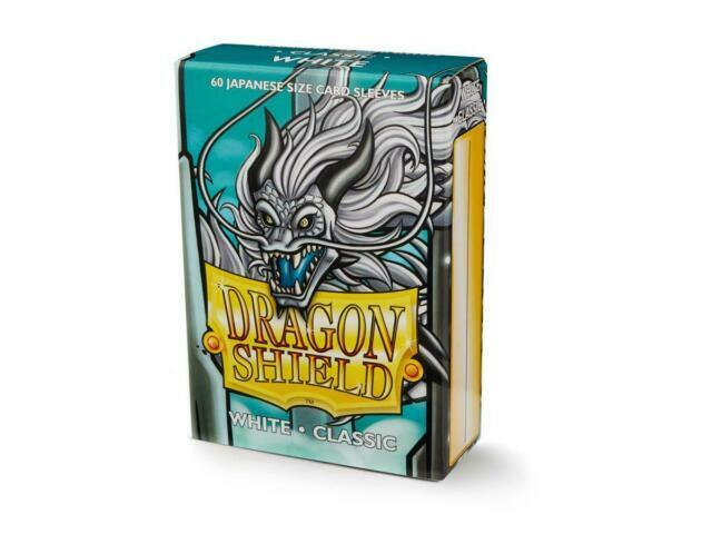 DRAGON SHIELD SMALL Matte White Card Protectors Sleeves 60ct 59 x 86mm Yugioh
