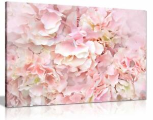 Pastel-Pink-Flowers-Wall-Art-Picture-Print-Floral-HD-Larged-Canvas