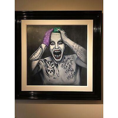 Ben Payne Original Oil Painting 'Damaged' (Jared Leto Joker). Stunning Image!