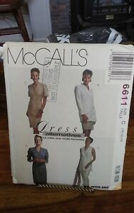 Oop-Mccalls-6611-misses-double-breasted-jacket-vest-skirt-dress-size-10-14-NEW