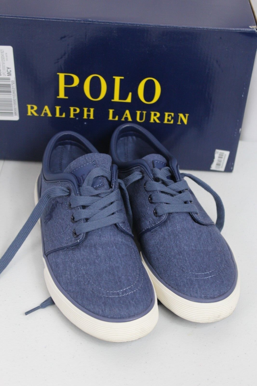 Polo Ralph Lauren US 9D Faxon Low Cut Sport bluee Canvas Fashion Sneakers shoes