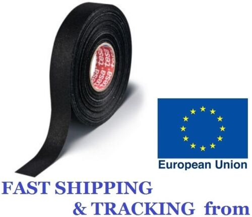 TESA 51006.150°C.19mm x 25M Adhesive PET Fabric Tape cable looms wiring harness