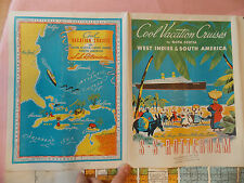Best 1930s SS Rotterdam Deck Plan Holland America Ocean Liner Steamship