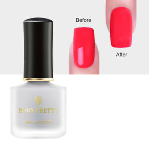 Details About Born Pretty 6ml Matte Top Coat Nail Polish Odorless Clear Dull Nail Art Varnish