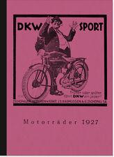 DKW E 200, E 250 und Z 500 Prospekt/Buch Seitenwagen Modelle 1927 Beschreibung