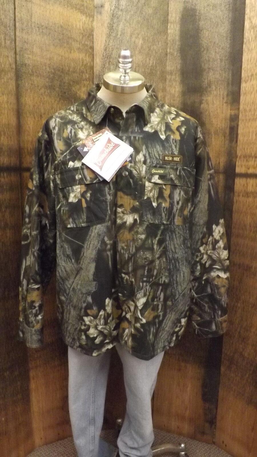 Vtg NOS  GameHide Quilted Jac-Shirt Mossy Oak Break-up Camo Waterproof Hush Hide  up to 50% off