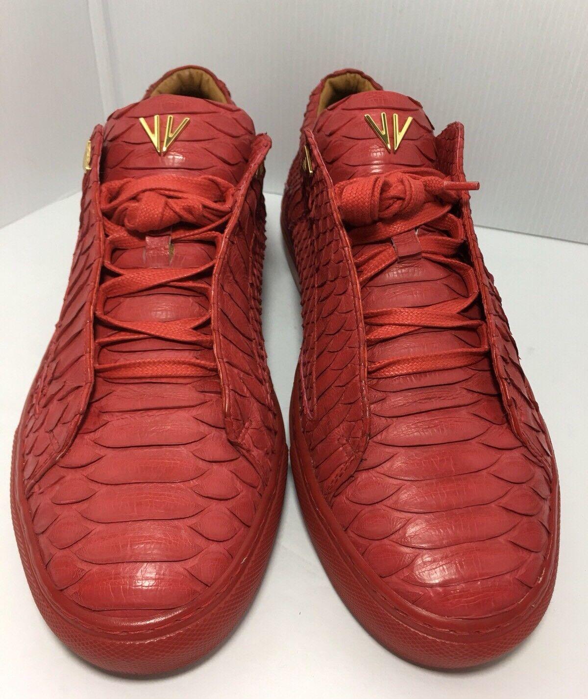 VINCEO Snake Skin Skin Skin rosso Low Top scarpe da ginnastica Dimensione 39.5 Made In  0a5aec