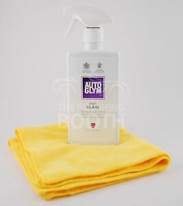 Autoglym-Fast-Glass-Cleaner-500ml-with-Microfibre-Cloth-Brand-New