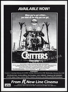 CRITTERS_/_A NIGHTMARE ON ELM STREET 2__Original 1986 Trade AD / screening promo