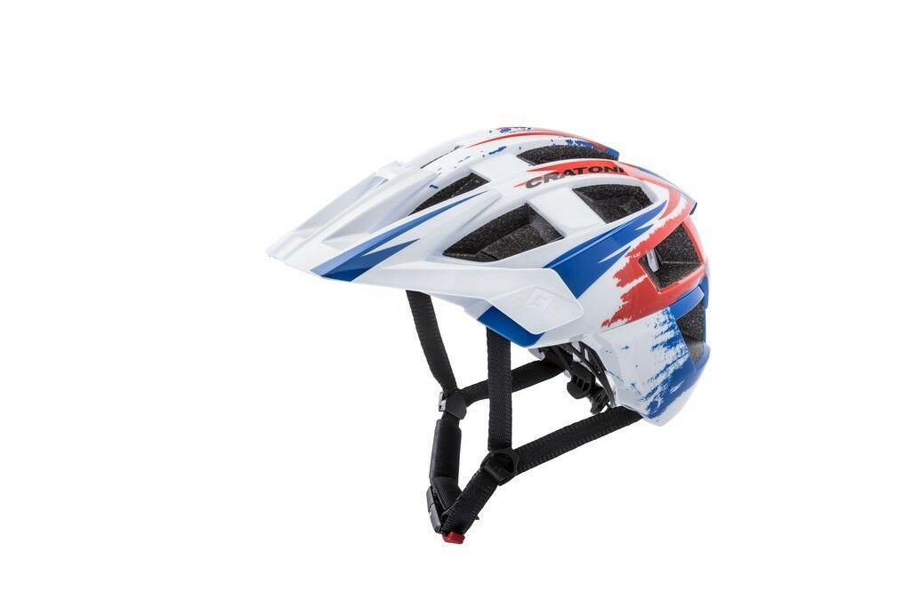 Cratoni Allset Bike Helmet White bluee Matte