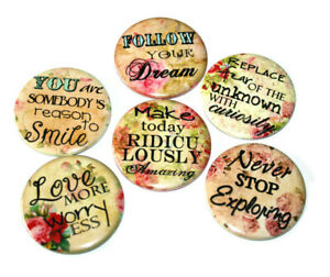 INSPIRATIONAL-SAYINGS-Set-of-6-Large-FRIDGE-MAGNETS-Positive-Affirmations-Gift