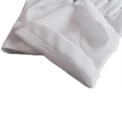 Girl White Elastic Short Satin Feel Gloves Hold Flower Performance .Dance Kid~~