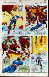 1979-Captain-America-238-page-27-Marvel-Comics-original-color-guide-art-1970-039-s