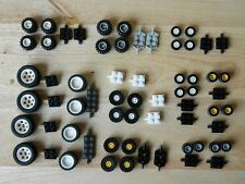 LEGO WHEELS 100 pieces set pack city like 6118 small medium large tyre axle hub