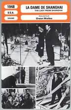 FICHE CINEMA : LA DAME DE SHANGHAI - Hayworth,Welles 1948 The Lady from Shanghai