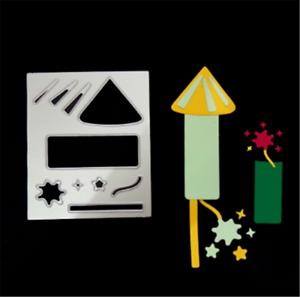 Stanzschablone-Feuerwerk-Geknatter-Weihnachten-Hochzeit-Neujahr-Karte-Album-DIY