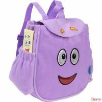Dora The Explorer Plush Backpack - Soft Purple Bag Mr. Face Map Girl Christmas
