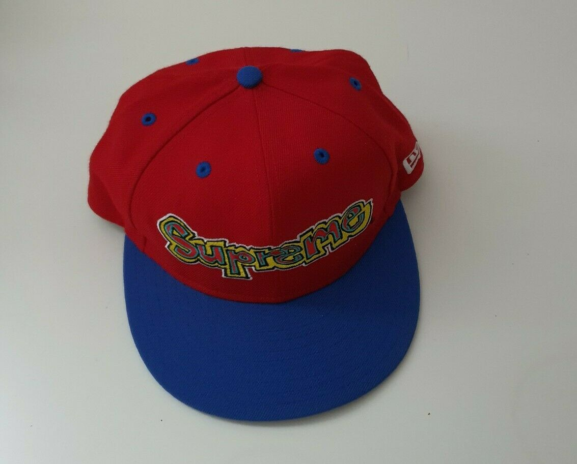 Selten FW07 Supreme Gonz NEW ERA 59fifty Enganliegende Kappe Größe 7 1/4 Rot