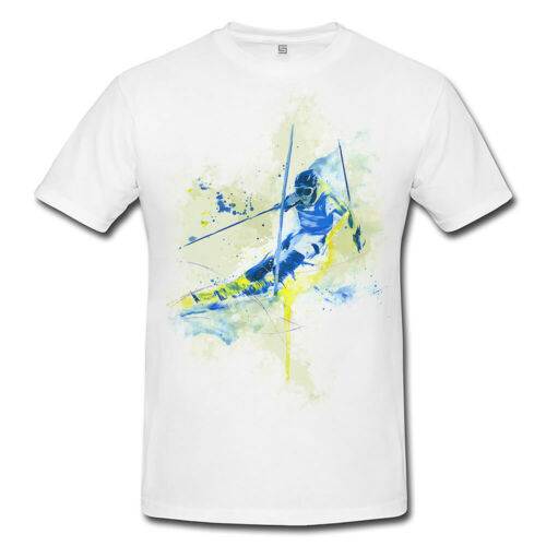 Ski Alpin I Premium Messieurs et Dames T-shirt motif de Paul Sinus Aquarelle