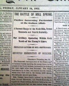 BATTLE-OF-MILL-SPRINGS-Kentucky-George-H-Thomas-WIN-1862-Civil-War-Newspaper