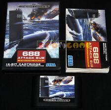688 ATTACK SUB Mega Drive Genesis Md Versione Italiana 1991 •••• COMPLETO