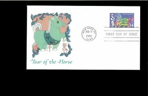 2002-First-day-Cover-Year-of-the-Horse-New-York-NY