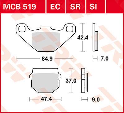 Plaquettes de frein Avant TRW MCB 519 EC Piaggio NRG 50 Power Purejet C45 05