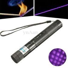 Purple Laser Pointer Pen Visible Beam Light Adjustable Focus with Star Cap 5mW