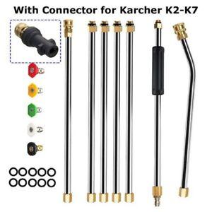 Pressure Washer Spray Jet Lance + Nozzle Tips For Karcher K2 K3 K4 K5 K6 K7