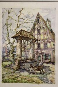 Fränkisches Bauernhaus mit Brunnen