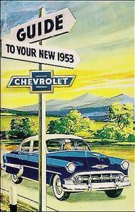 1953 Chevrolet Voiture Propriétaires Manuel Avec Enveloppe 53 Chevy Owner150 210 A5nlkj9b-08004901-792269653