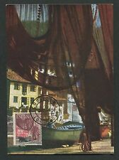 SPAIN MK 1965 CUDILLERO SHIP BOAT HABOUR SCHIFFE CARTE MAXIMUM CARD MC CM d4092