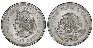 5-SILVER-PESOS-5-PESOS-PLATA-MEXICO-1948-CUAUHTEMOC-AU-SC-BARGAIN-OFERTA