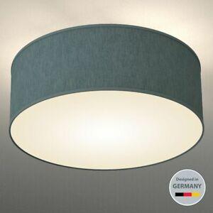 Deckenleuchte Diele grau LED Schlafzimmer Stoff Wohnzimmer
