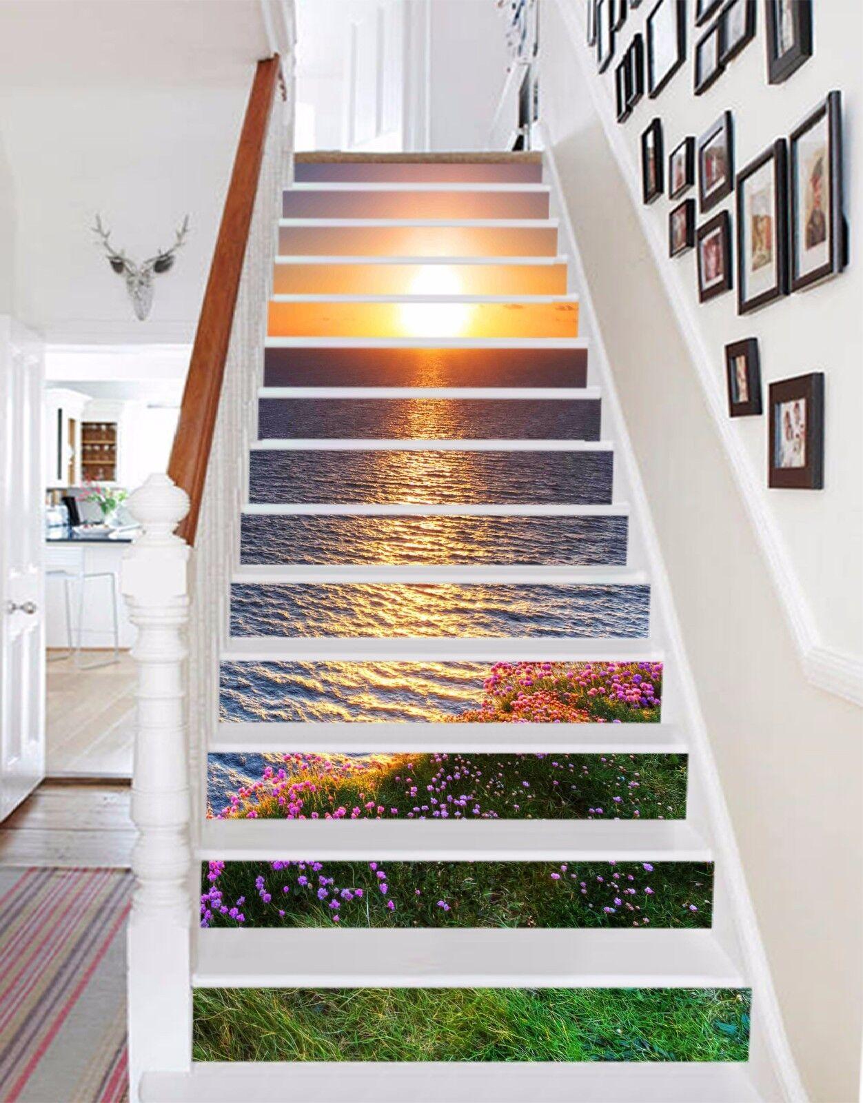 3D Sky ocean 257 Stair Risers Decoration Photo Mural Vinyl Decal Wallpaper UK